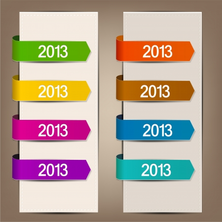 Colorful bookmarks and arrows for text Stock Vector - 15351138