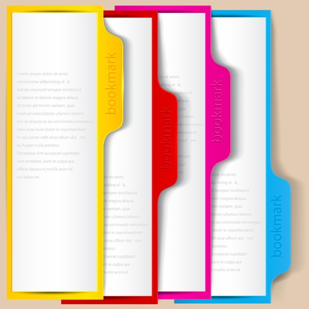Colorful bookmarks and banners with place for text Stock Vector - 15399560