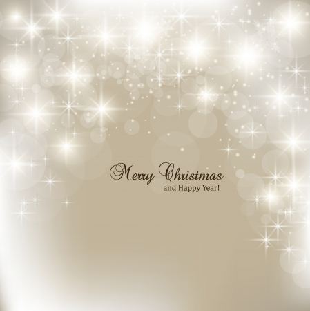 elegante: Elegante sfondo Natale con fiocchi di neve e il luogo per il testo. Illustrazione Vettoriale.