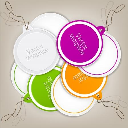 label: Set van bellen, stickers, labels, tags. Vector sjabloon