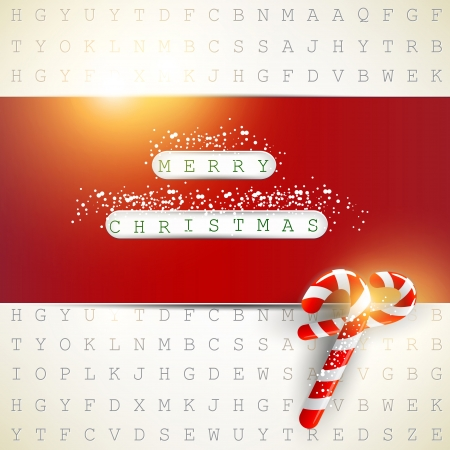 Background made from letters with highlighted keywords Merry Christmas Vector