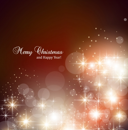 muerdago navide�  � �±o: Elegante fondo de Navidad con copos de nieve y el lugar de texto