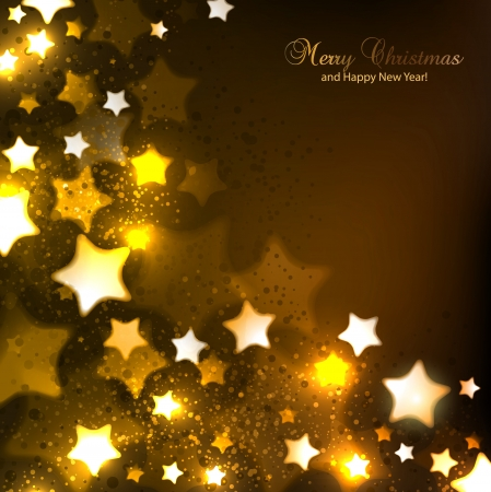 Elegant Christmas background with stars and place for text Vector