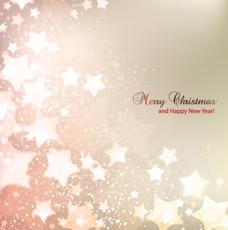 seasons greetings: Elegant Christmas background with stars and place for text