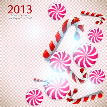 Merry Christmas and Happy new year 2013 Stock Vector - 15736571