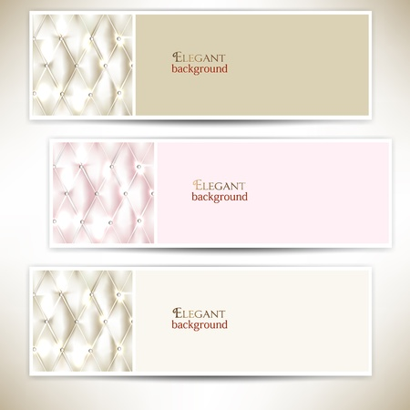 quilted fabric: Light texture and upholstery. Vector set