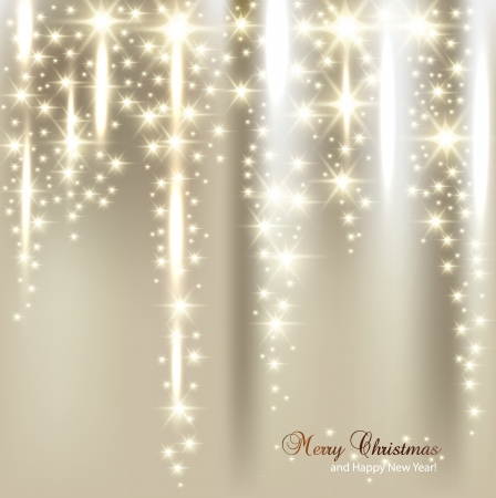 stars: Elegant Christmas background with snowflakes and place for text. Vector Illustration.
