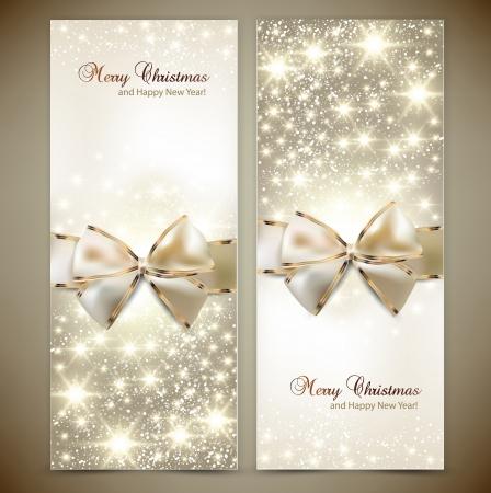 Cartes de voeux avec des arcs blancs et Vector illustration, copie, espace
