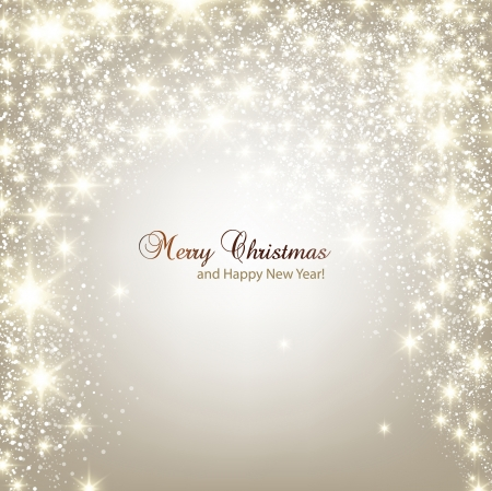 christmas decorations: Elegant Christmas background with snowflakes and place for text  Vector Illustration