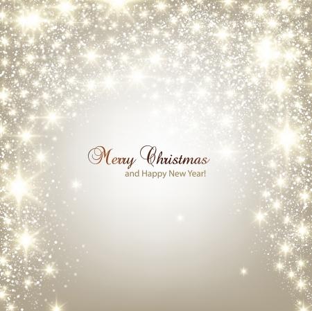 muerdago navideÃ?  Ã? Ã?±o: Elegante fondo de Navidad con copos de nieve y lugar para el texto Ilustración vectorial