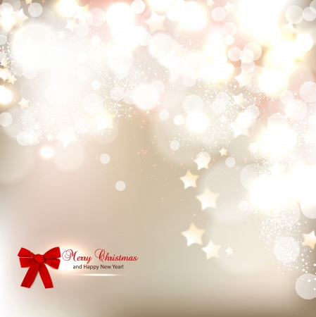 Elegant Christmas background with stars and place for text  Vector Illustration