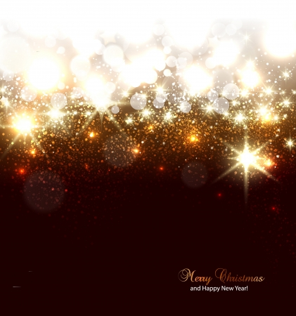 shimmer: Elegant Christmas background with snowflakes and place for text  Vector Illustration