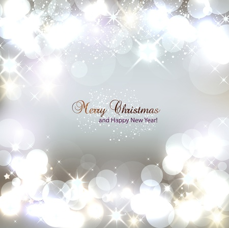 spangles: Elegant Christmas background with snowflakes and place for text  Vector Illustration