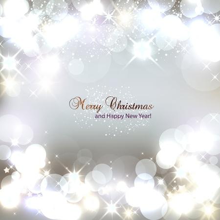 Elegant Kerst achtergrond met sneeuwvlokken en plaats voor tekst Vector Illustratie Stock Illustratie