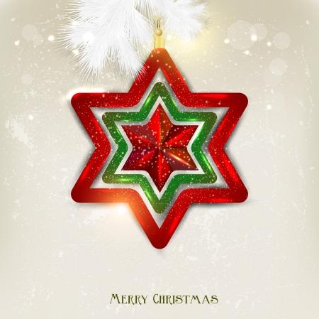 Kerst achtergrond met speelgoed. Kerst ster.