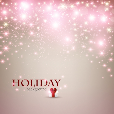 place for text: Elegant Christmas background with snowflakes and place for text.