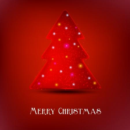 luminous: Stylized luminous christmas tree.