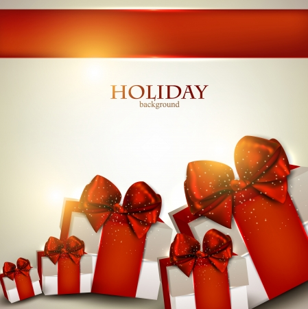 Elegant background with Christmas gifts Stock fotó - 16028941