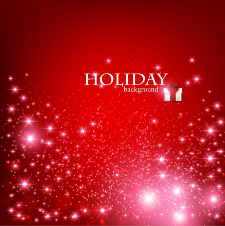 Elegant Christmas Red background with snowflakes and place for text.