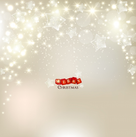 Elegant Christmas background with stars and place for text.  Vector
