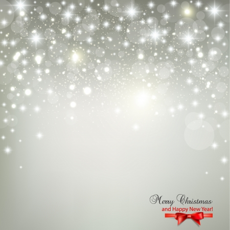 shine silver: Elegant Christmas background with snowflakes and place for text  Vector Illustration