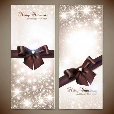 tarjeta de invitacion: Colecci�n de tarjetas de regalo y las invitaciones con cintas Vector fondo