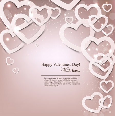 Gift card  Valentine Stock Vector - 16874219
