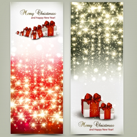 Greeting cards with red bows and copy space. illustration Stock Vector - 16874207