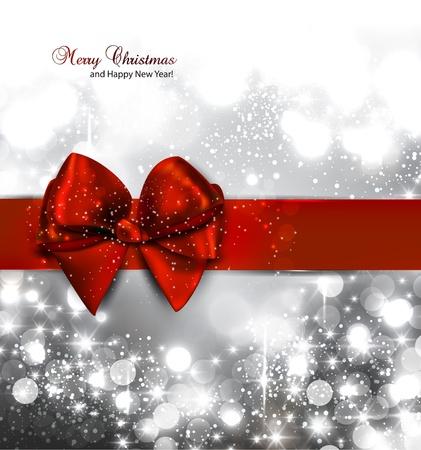 navidad elegante: Elegante fondo de Navidad con copos de nieve y el lugar de texto. Ilustraci�n.