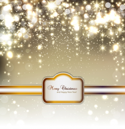 christmas cover: Elegant Christmas background with snowflakes and place for text. Illustration.