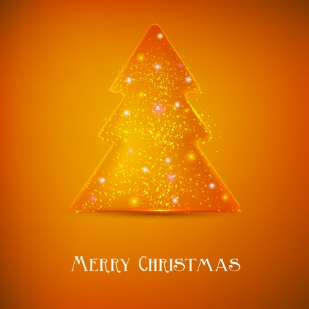 Stylized luminous christmas tree. Vector background with copy space Vector