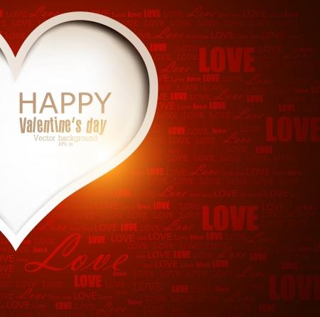 valentines day background: Gift card  Valentine Illustration