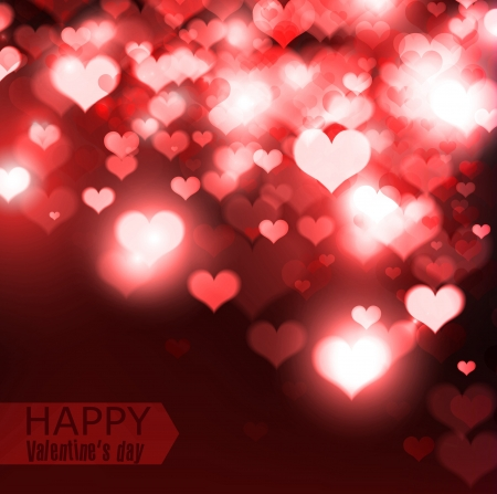 valentine s card: Elegant  red background with hearts and place for text  Valentine