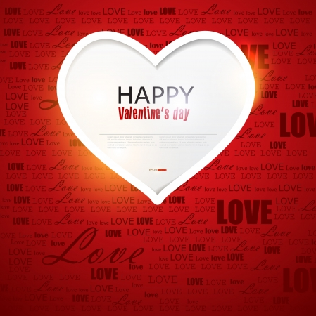 Gift card. Valentine's Day. Vector background Stock Vector - 17233435