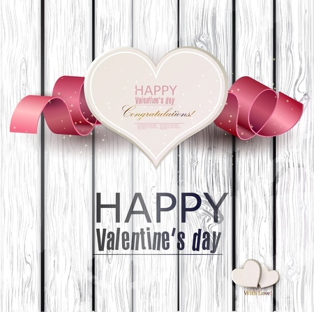valentines day background: Gift cards with ribbon.  background