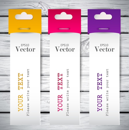 Colorful bookmarks with place for text Vector