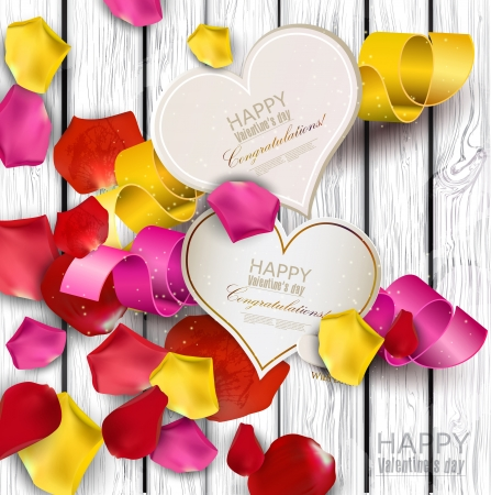 Collection of gift cards with ribbons. background Stock fotó - 17338999