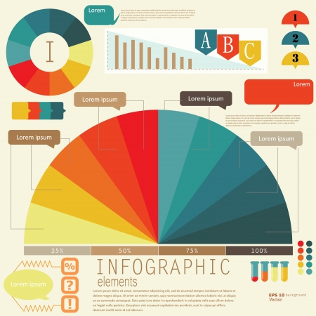 Set of Infographic elements.  Design template. Vector illustration Vector