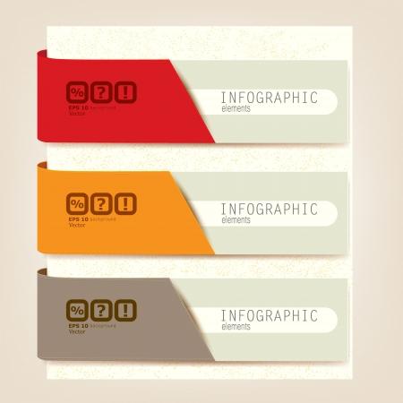 bookmark ribbon: Set of Infographic elements.  Design template. Vector illustration