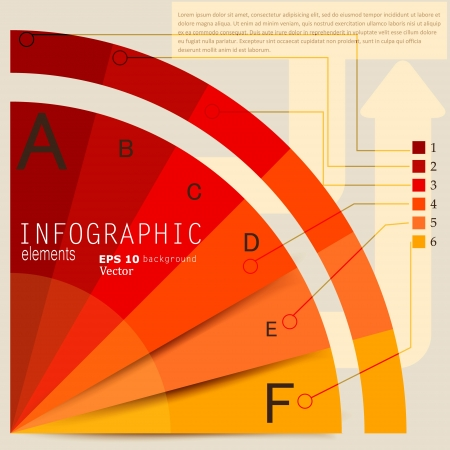 Set of Infographic elements.  Design template. Vector illustration Stock fotó - 17790455