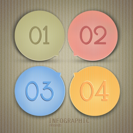 Set of bubbles, stickers, labels, tags. Numbered banners. Vector template for infographics Stock Vector - 18236761