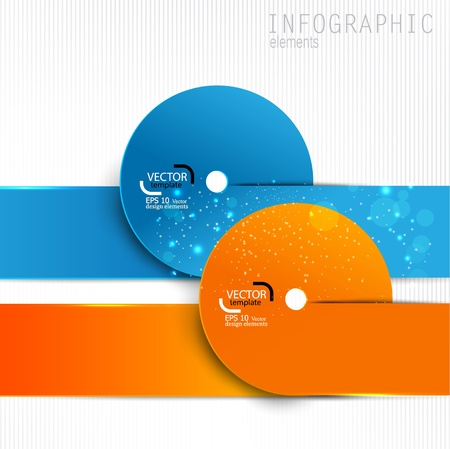 Colorful paper design elements on white background. Vector template for infographics Stock Vector - 18236794