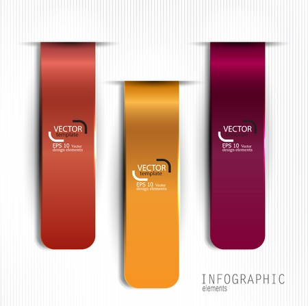 Set of bookmarks, stickers, labels, tags. Vector template for infographics Stock Vector - 18236801