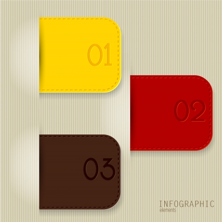 Set of bookmarks, stickers, labels, tags. Numbered banners. Vector template for infographics Stock Vector - 18236786