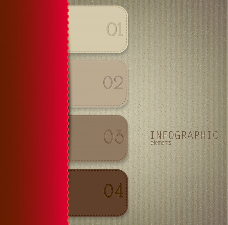 Set of bookmarks, stickers, labels, tags. Numbered banners. Vector template for infographics Stock Vector - 18236758