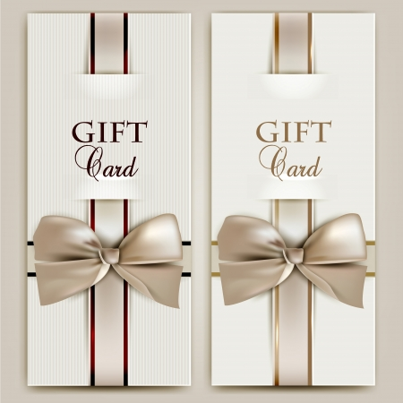 Collection of gift cards with ribbons.  background Stock fotó - 18393059