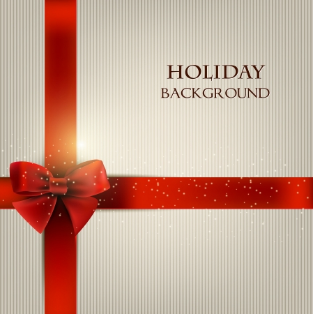 Elegant holiday background with red bow and space for text.  illustration Stock fotó - 18393053
