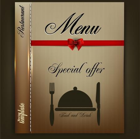 Conception de menu pour le mod�le Vintage Restaurant ou Caf� Illustration