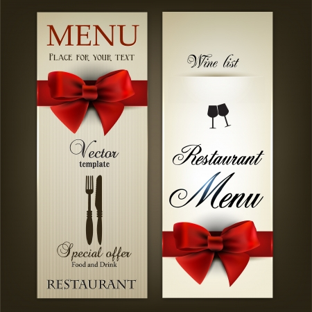 Menu design for Restaurant or Cafe  Vintage template Vector