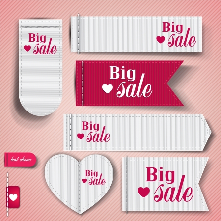sewn: Set of bubbles, stickers, labels, tags &quot,Big Sale&quot,. template  Illustration